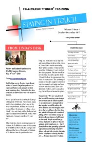 Cover of Staying in TTouch the offical newsletter of Tellington TTouch Training.
