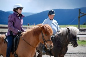 Riders on Icelandic horses at Riding with Awareness clinic